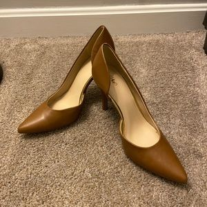 Mossimo tan heels. NEVER WORN
